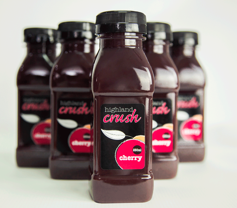 Highland Crush Cherry 250ml bottles